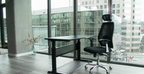 Height Adjustable Desk ABC102BKTT with table top
