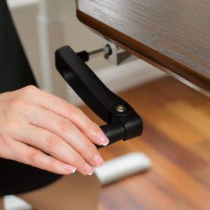 ErgoMax Height Adjustable Black Desk- ABC256BK- Crank