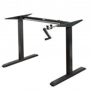 ErgoMax Height Adjustable Black Desk- ABC256BK